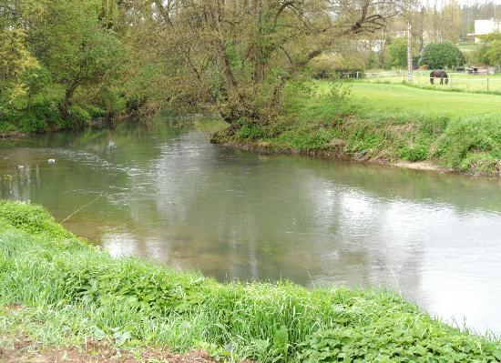 Le Chene Gris: River at bottom of hill