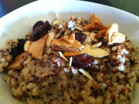 Clarksville Photo: Toasted Quinoa Porridge with dried fruit and nuts