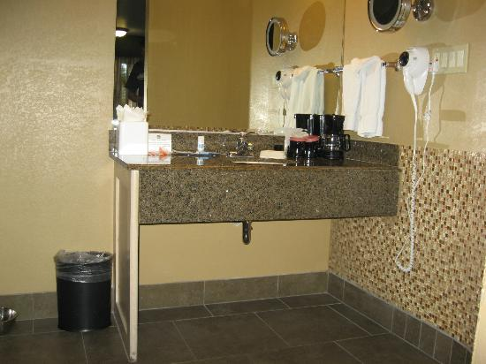 BEST WESTERN Royal Sun Inn & Suites: Sink counter