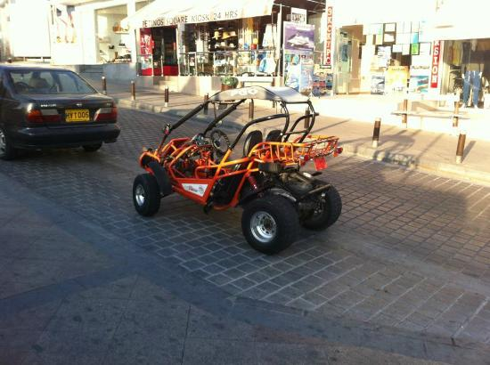 Nissi Beach Resort: hire a buggie for the day