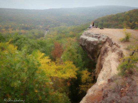 Yellow rock overlook at devil 39 s den state park picture Devils fork state park cabin rentals