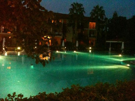Kentia Apartments: pool at night