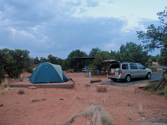Site #5 at the Kayenta Campground