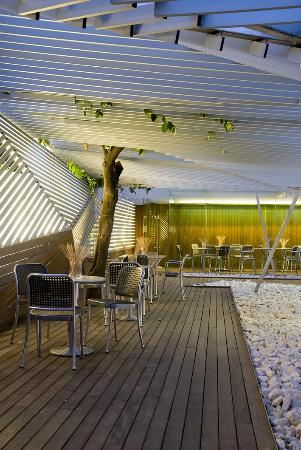 Hotel Holos: You can have a drink in our terrace at night