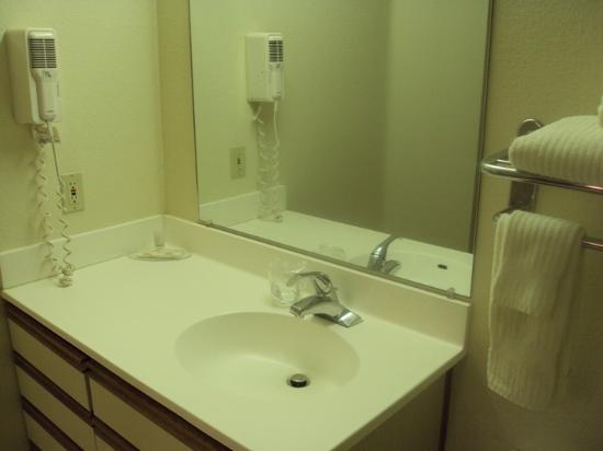 Hawthorn Suites by Wyndham Charlotte - Executive Center: Bathroom sink