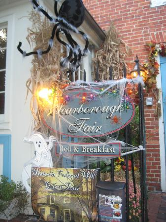 Scarborough Fair Bed & Breakfast: sign