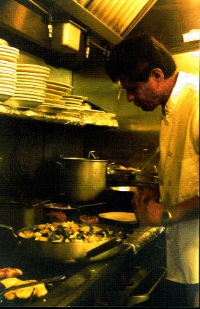 Fawnskin, Kalifornia: Chef Richard At Work