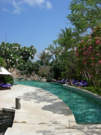 AYANA Resort and Spa: view over top level of villa pool!