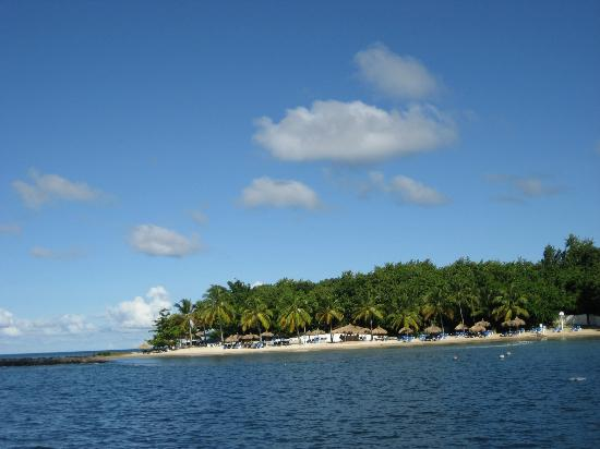 Windjammer Landing Villa Beach Resort: View from boat