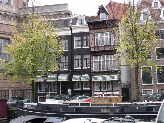 Singel Hotel: View of front from other side of canal