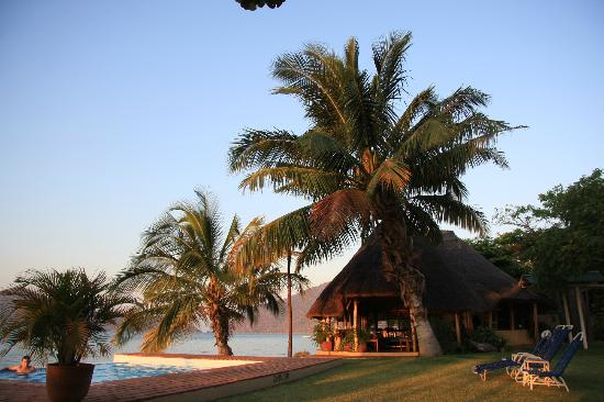 Cape Maclear, Malawi: lodge area