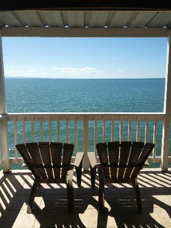 LemonTree Oceanfront Cottages: Our private balcony