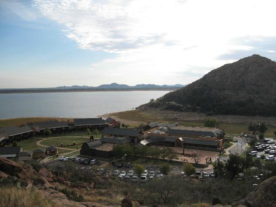Quartz Mountain Resort Arts & Conference Center: the resort from the trails