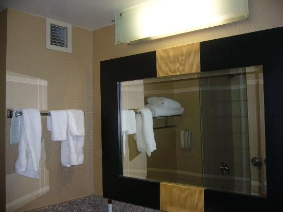 Embassy Suites by Hilton Las Vegas: Bathroom with low hanging mirrow