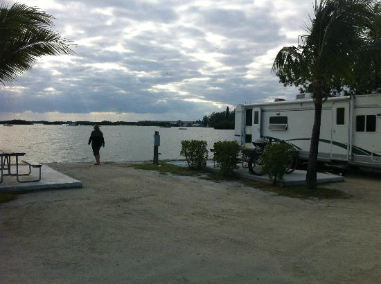 Boyd's Key West Campground: example of RV site on the water