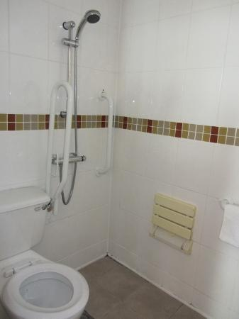 Mereside: Bathroom with toilet &amp; shower area