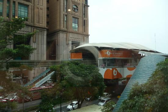 Melia Kuala Lumpur: Looking towards Time Square and the monorail
