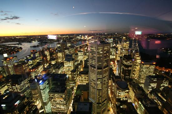 Evening View Picture Of Sydney Tower Eye And Skywalk