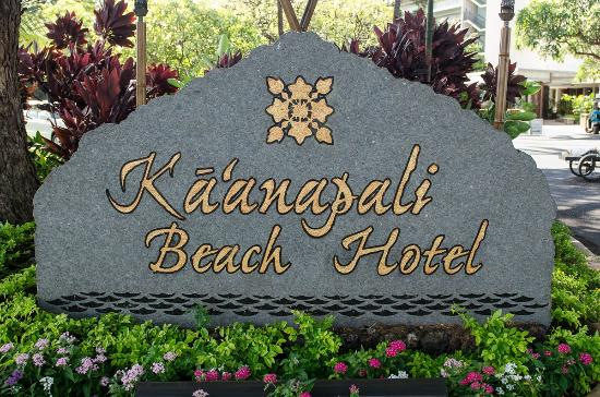 Ka'anapali Beach Hotel: Welcome sign