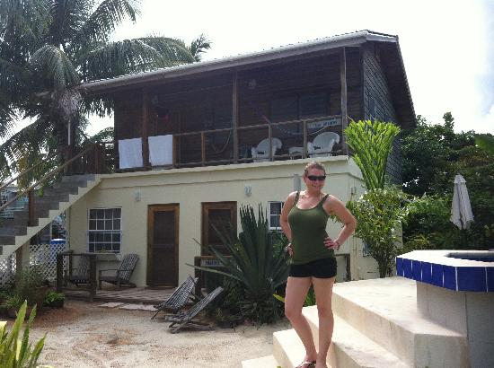 Amanda's Place: Jodie in front of our home away from home.