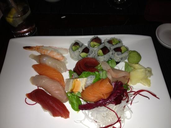 Sushi sashimi platter picture of aji 53 bay shore for Aji 53 japanese cuisine