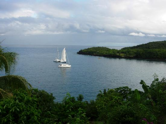 Ti Kaye Resort & Spa: View of boats in bay