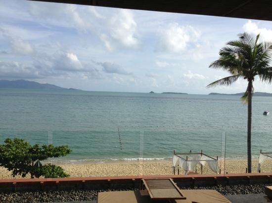 Hansar Samui Resort: view from restaurant