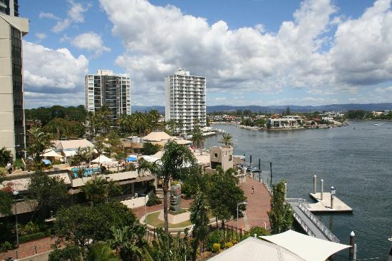 Moorings on Cavill Avenue: Nerang river view from hotel