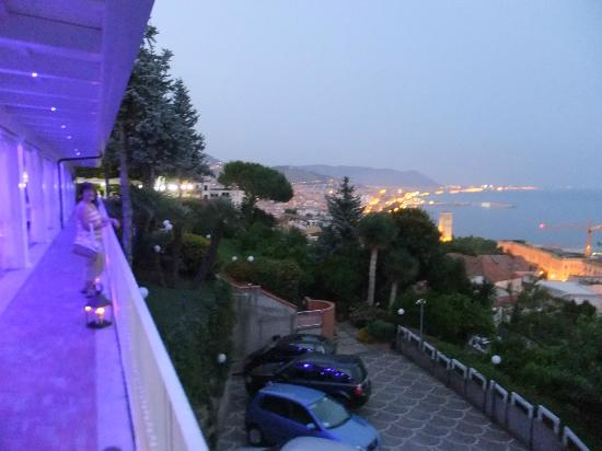 Villa Poseidon: Salerno Bay from terrace.