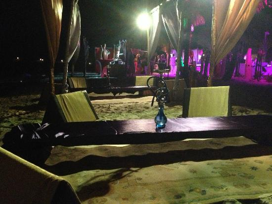 Excellence Playa Mujeres: Hookahs set up at the Arabian nights night on the beach