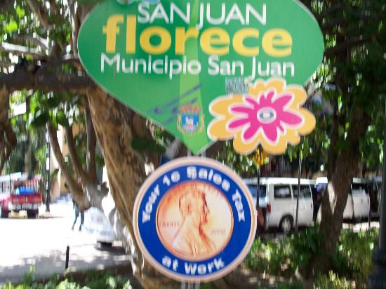 El Viejo San Juan (Old San Juan): Welcome Sign