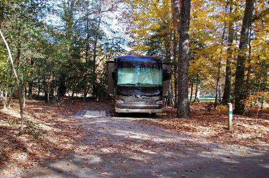 Pohick Bay Regional Park Campgrounds: Full Hookup Site