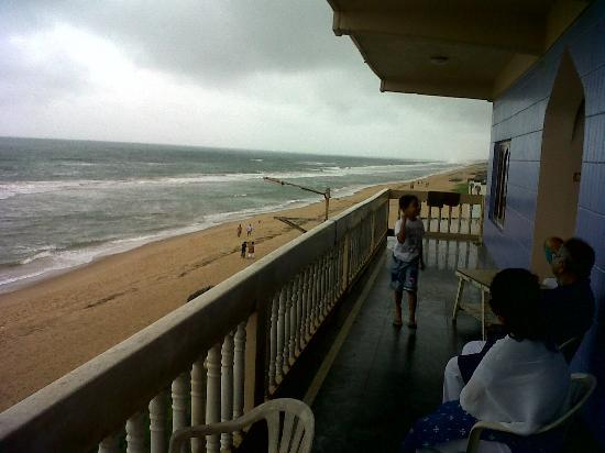 View From Balcony Picture Of Hotel Sea Pearl Gopalpur
