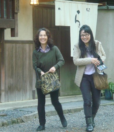 Salon Haraguchi Tenseian: My girlfriend (right), and Mrs Haraguchi. She was helpful showing us where we could buy essentia