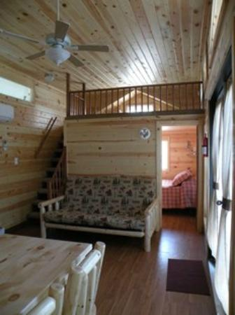 Deluxe Cabin Interior Sleeps Four Picture Of