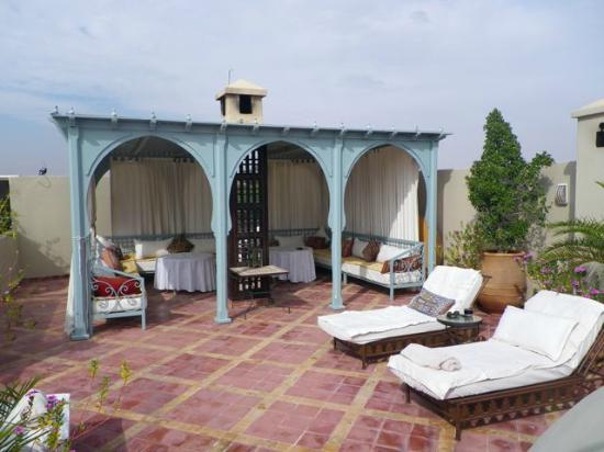 Riad Kniza: rooftop terrace