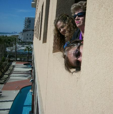 Grand Atlantic Ocean Resort: Silly pic from the parking garage window.