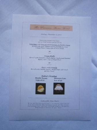 Princess Anne Hotel: One morning's breakfast options - delicious!
