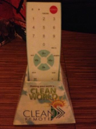 "BEST WESTERN PLUS Las Brisas Hotel: Remote - New ""Clean"" style - EASY to Clean! (We know from news reports how germ-y these can get)"
