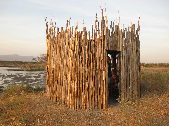 Manyara Ranch Conservancy: hut at the watering hole
