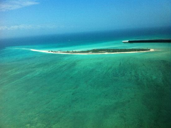 Medjumbe Private Island: The island from the charter plane
