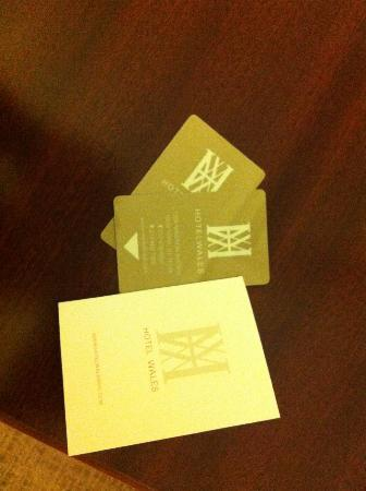 Hotel Wales Room Cards