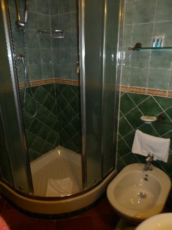 Domus Livia Suites: green bathroom, room no 6