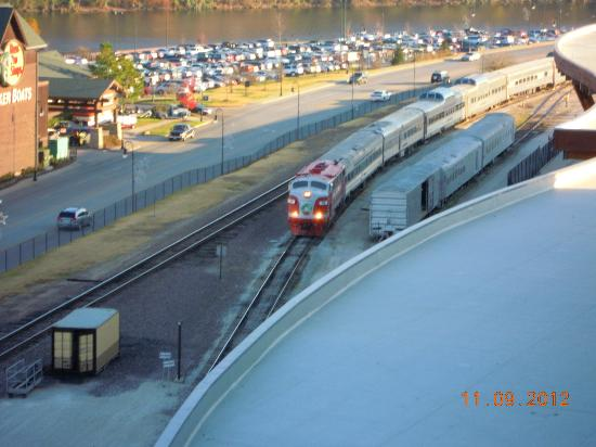 Hilton Branson Convention Center : View of Train- just under hotel
