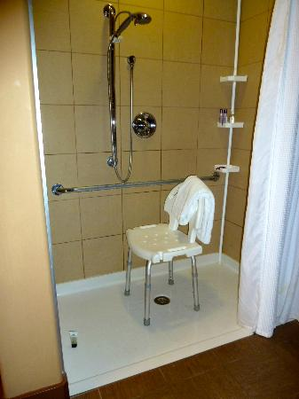 Spirit Ridge Vineyard Resort & Spa: Wheel In Shower-bench was brought up separately so be to ask that it is in room if you book
