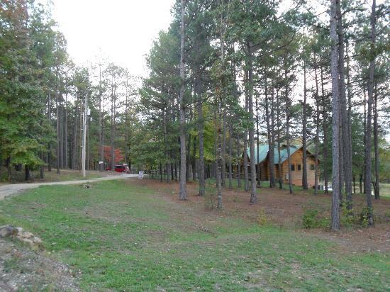 trail picture of country charm log cabins bismarck