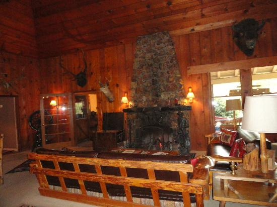 Sierra Sky Ranch: Fireplace in the living room