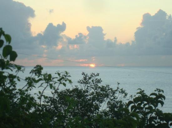 Virgin Islands Campground: SUNRISE FROM #1 PORCH