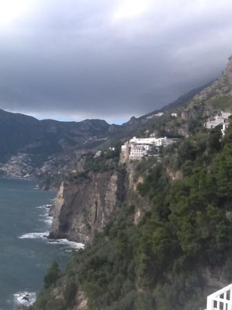 Amalfi Car Service Private Tours: view from our hotel to Positano.