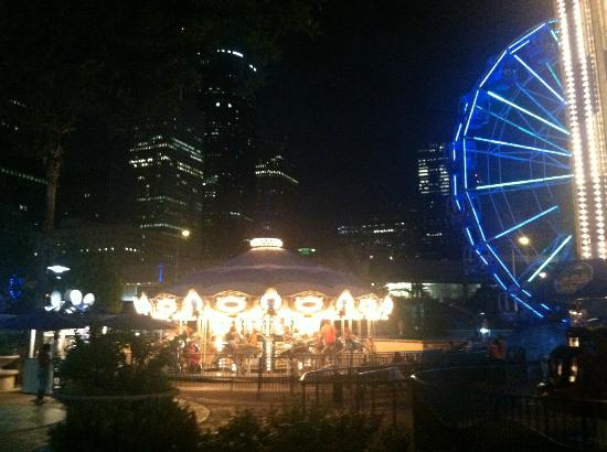 Merry Go Round Ferris Wheel Picture Of Downtown
